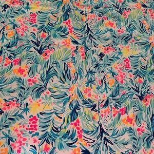 FABRIC almost 3 yards Lilly Pulitzer tippy top
